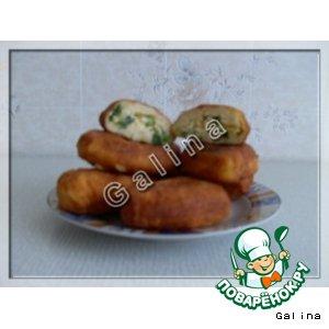 Рецепт Творожные пирожки с яйцом и луком