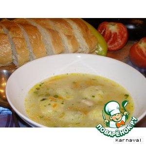 Рецепт Куриный суп с лимонными клецками