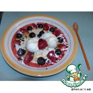Готовим домашний рецепт с фотографиями Мороженое с фруктами