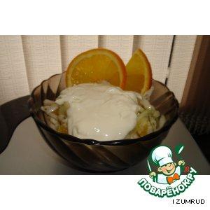 Рецепт Салат из капусты и апельсина