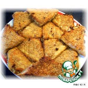 Рецепт Вафельные треугольнички или ленивые пирожки