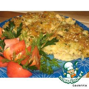 Рецепт Картофельная запеканка с рыбой и креветками