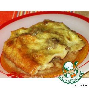 Рецепт Картофельная запеканка с куриной печенью и грибами
