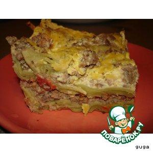 Рецепт Лазанья мясная с соусом бешамель