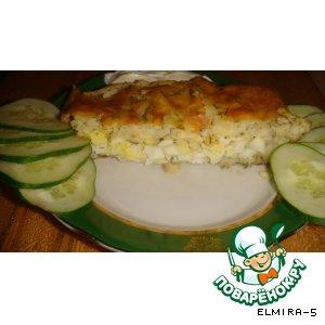Рецепт Рулет картофельный с яйцами