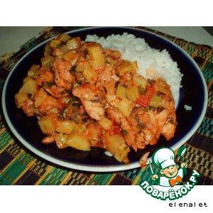 Рецепт Филе куриное с помидорами