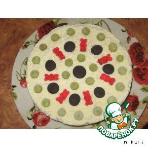 Рецепт Творожный торт-мороженное