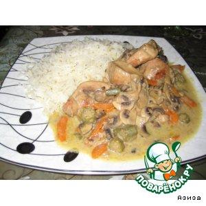 Рецепт: Курица в кокосовом молоке по-тайски
