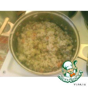 Рецепт Рисовая каша с фаршем и кабачками
