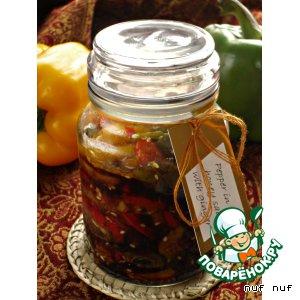 Рецепт: Сладкий перец в соевом соусе с имбирeм и мeдом