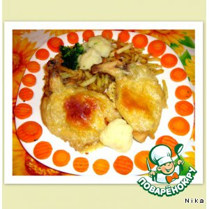 Куриное  филе  с  косточкой пошаговый рецепт с фото