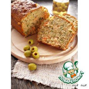 Рецепт Закусочный кекс с сeмгой и зеленью