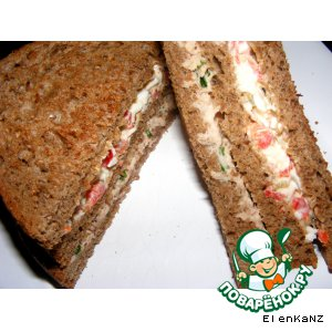 Рецепт Sandwiches с двумя начинками