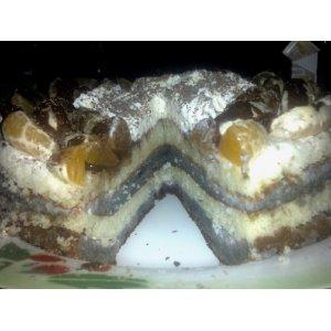 Манно-бисквитно-черничный торт вкусный рецепт приготовления с фотографиями пошагово как приготовить на Новый Год