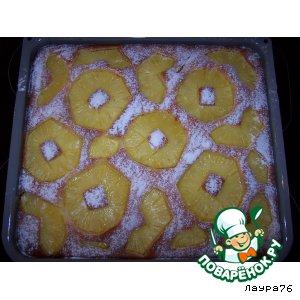 Как приготовить Нежный ананасовый пирог простой пошаговый рецепт с фото
