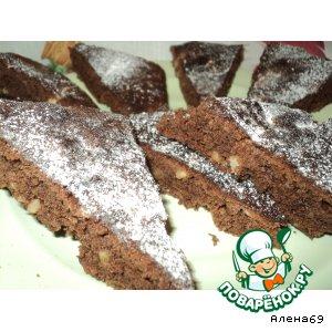 """Рецепт Быстрые шоколадные пирожные """"Ореховое наслаждение"""""""