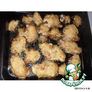Рецепт Запеченные свиные отбивные в картофельной шубке