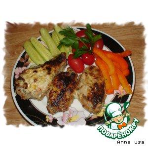 Рецепт Куриные крылышки в сметанно-чесночном соусе