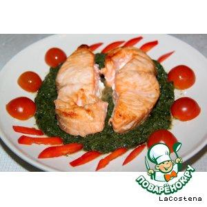 Рецепт Карамельная семга