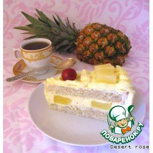 Рецепт Сливочный торт с ананасами