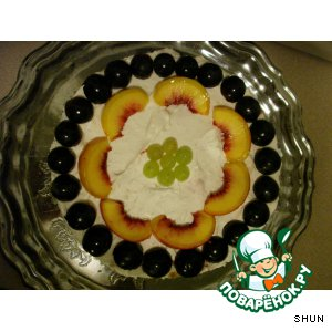 Рецепт Персиково-клубничный торт