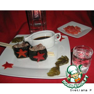 "Рецепт Армейские  ""суши"""