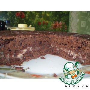 Рецепт Шоколадный тортик к чаю