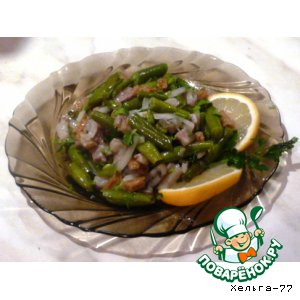 "Рецепт Салат ""Зеленая фасолька"""