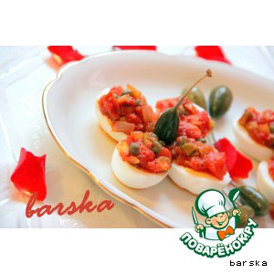 Рецепт Яйца под горячим томатным соусом