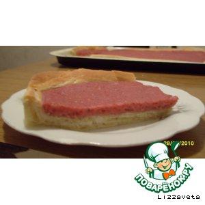 Рецепт Открытый пирог с малиной и творожной массой