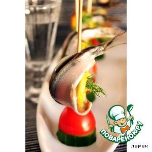 Рецепт Килька балтийская с овощами