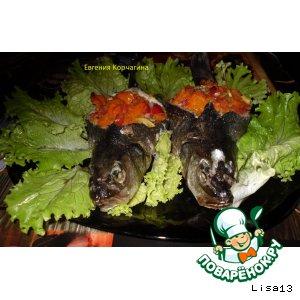 Рецепт Сибас, фаршированный овощами