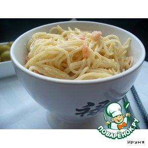 Рецепт Спагетти с креветками в сливочно-винном соусе