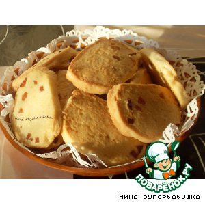 Рецепт Кокосовое печенье с курагой
