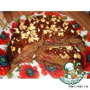 Рецепт Шоколадно-клубничный пирог с помадкой