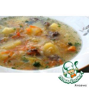 Рецепт Суп тыквенно-пшенный с мясом