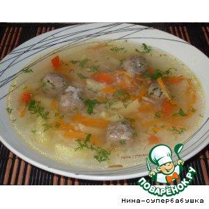 Рецепт Рисовый суп с лимонными фрикадельками