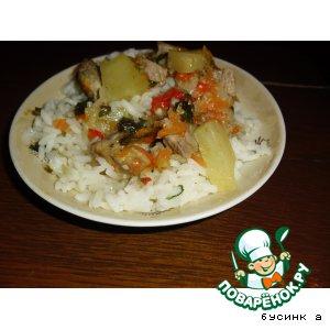 Рецепт Рис с мясом и ананасами
