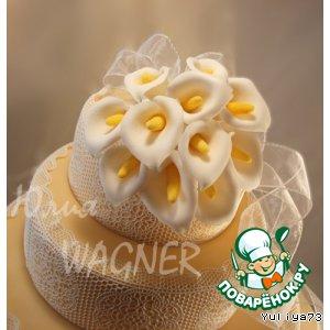 Рецепт Каллы из сахарной мастики для декорирования тортов и не только!