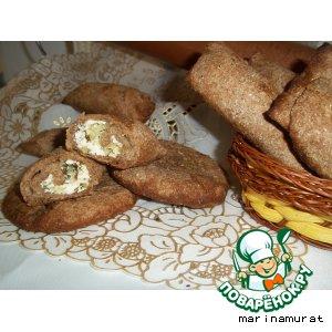 Рецепт Хлебные рулетики с творожно-луковой начинкой