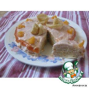 Рецепт Блинчатый тортик
