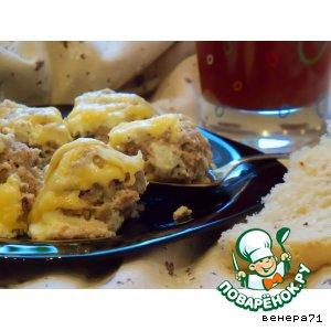 Рецепт Запеканка с фрикадельками