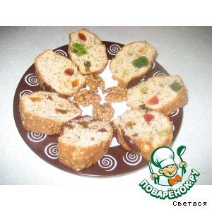 Рецепт Ореховый кекс с цукатами