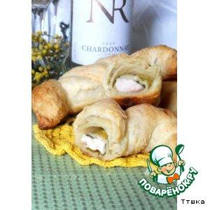 Рецепт Закусочные круассаны с куриной грудкой