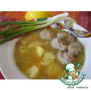 Рецепт Гороховый суп с копчеными фрикадельками