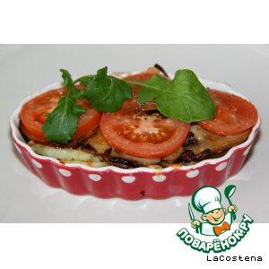 Рецепт Картофельная лодочка с грибами