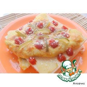 Рецепт Тыквенный омлет в вафлях
