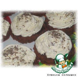 Рецепт Бисквитное пирожное с клубникой