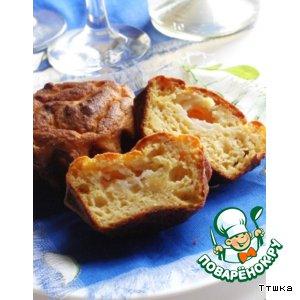 Рецепт Закусочный кекс с сырной начинкой