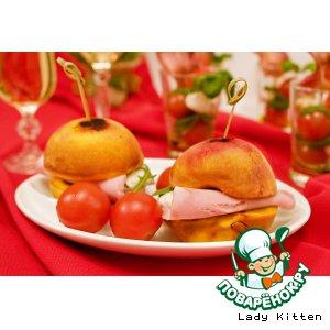 Рецепт Гриллованые персики с ветчиной и моцареллой